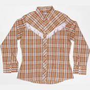 1960's製 U.S.A. ヴィンテージ Wrangler ラングラー ウエスタンシャツ カウボーイシャツ チェック フリンジ