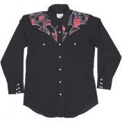 1970's 製 U.S.A. ヴィンテージ H BAR C  ウエスタンシャツ カウボーイシャツ /ペイズリー柄 /ブラック