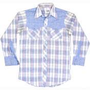 1970's 製 U.S.A. ヴィンテージ Lee リー ウエスタンシャツ カウボーイシャツ チェック柄 /ブラウン /M