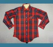 U.S.A. ビンテージ タータン チェック ウールシャツ 赤 黄 緑 M