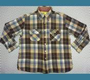 1960年代 〜 U.S.A. ビンテージ チェック ウールシャツ XL