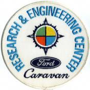 U.S.A. 70年代 デッドストック 刺繍 ワッペン フォード - FORD Caravan -(大)