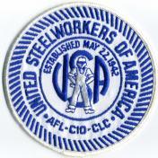 U.S.A. 70年代 デッドストック 刺繍 ワッペン - UNITED STEELWORKERS -(中)