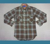 1970年代  U.S.A. JCペニー ビンテージ チェック ウールシャツ S