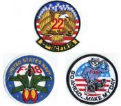 U.S.A. デッドストック ミリタリー 刺繍 ワッペン - 3種類 -