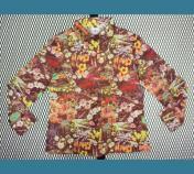 USA. 1970年代 Bodin Knits, Inc. 【全面 花柄】 ポリシャツ 16