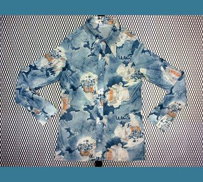USA. 1970年代 California 【建物 風景柄】 ポリシャツ L