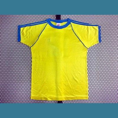 1980's USA. オールド ナンバー リンガー Tシャツ【黄】M