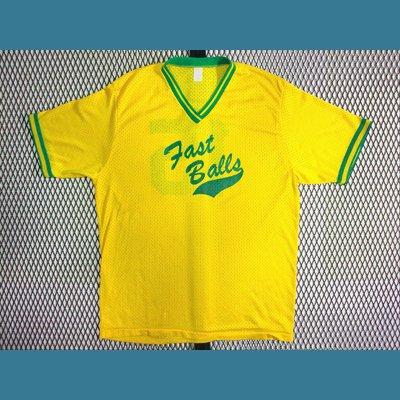 1980's USA. オールド メッシュ ベースボール Tシャツ【黄】L