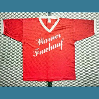 1980's USA. オールド メッシュ リンガー Tシャツ【赤】L