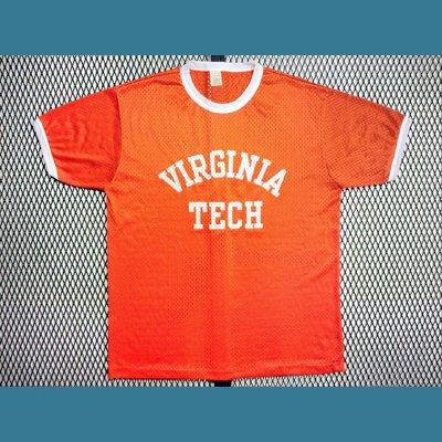 1980's USA. オールド メッシュ リンガー Tシャツ【橙】L