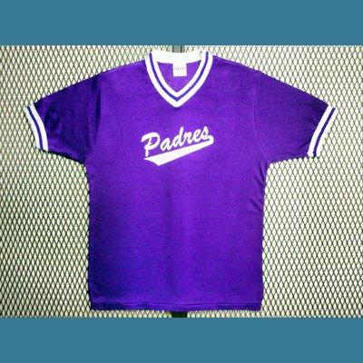 1980's USA. オールド ベースボール Tシャツ ナンバー【紫】S