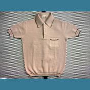 60's〜70's ユーロ オールド ポロシャツ / メッシュ【タン / Tan色】size:50