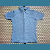 60's〜70's ユーロ オールド ポロシャツ / メッシュ【ヒヤシンス色】size:50