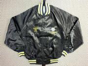 USA. 70's ビンテージ THE GREAT LAKES JACKET ホッケー ロゴ刺繍 サテンジャケット【 色:黒  】 size:L