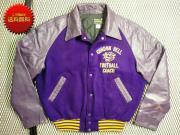 U.S.A. 70's Shanter Sportwear ビンテージ アワード スタジャン 刺繍 【 色:パープル系 】 size: 42