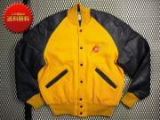 U.S.A. 80's DeLONG ビンテージ アワードジャケット スタジャン 刺繍 【 色:グレープ イエロー】size:40