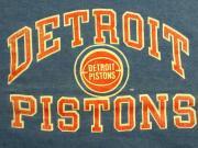 U.S.A. 80's〜90's デトロイト ピストンズ バスケットボール プリント スウェットシャツ ブルー XL(18-20)