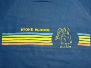 U.S.A. 80's Velva Sheen ベルバシーン ストーンスクール プリント スウェットシャツ ブルー L(16)