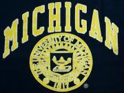 U.S.A. 80's ラッセルアスレチック ミシガン大学 カレッジ スウェットシャツ ネイビー XL(18-20)