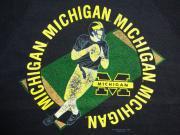 U.S.A. 80's〜90's ミシガン大学 アメリカンフットボール スウェットシャツ ネイビー L(16)