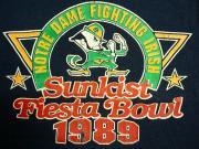 U.S.A. 1989's サンキスト フィエスタボウル アメリカンフットボール スウェットシャツ ネイビー XL(18-20)