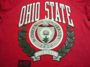 U.S.A. 80's〜90's カレッジ オールド スウェットシャツ オハイオ州立大学 【 色: レッド 】 size: L
