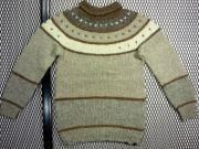 1960's ヴィンテージ U.S.A. タートルネック ノルディックセーター 太毛糸編 ( レディース M位 )