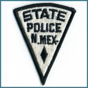 U.S.A. 70's〜 ビンテージ デッドストック 刺繍 ワッペン STATE POLICE N.MeX. サイズ:70 ミリ x 90 ミリ