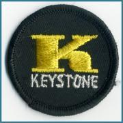 U.S.A. 1970's〜 ヴィンテージ デッドストック 刺繍 ワッペン K KEYSTONE   サイズ:( 直径 ) 51 ミリ