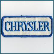 U.S.A. 1970's~ ビンテージ デッドストック 刺繍 企業ワッペン CHRYSLER サイズ:(W)125 ミリ x (H)52 ミリ