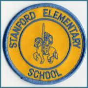 U.S.A. 70's~ ビンテージ デッドストック 刺繍 ワッペン STANFORD ELEMENTARY SCHOOL size:(直径)76ミリ