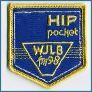 U.S.A. 70's~ ビンテージ デッドストック 刺繍 ワッペン WJLB (FM98) HIP pocket  (W) 57ミリ x (H) 62ミリ