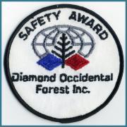 U.S.A. 1970's~ ビンテージ デッドストック 刺繍 ワッペン Diamond Occidental Forest Inc (直径)51 ミリ