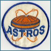 U.S.A. 1970's〜 ヴィンテージ デッドストック 刺繍 ワッペン ASTROS   サイズ:( 直径 ) 51 ミリ