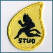 U.S.A. 1970's〜 ヴィンテージ デッドストック 刺繍 ワッペン STUD サイズ: ( W )  51ミリ x ( H ) 70ミリ