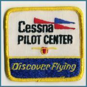 U.S.A. 1970's〜 ビンテージ デッドストック 刺繍 ワッペン Cessna PILOT CENTER  (W )80ミリ x (H )77ミリ
