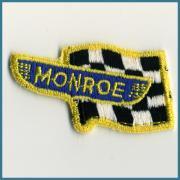U.S.A. 1970's〜 ビンテージ デッドストック 刺繍 ワッペン MONROE (SHOCKS & STRUTS) (W)60ミリx(H)35ミリ