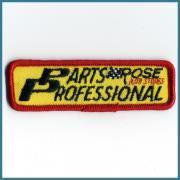 U.S.A. 1970's〜 ビンテージ デッドストック 刺繍 ワッペン PARTS ROSE PROFESSIONAL (W)86ミリx (H)27ミリ