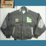 1991's U.S.A. Canada Sportswear アワードジャケット LAWFIELD Minor Hockey 刺繍 ( 黒 ) ボーイズ M 位