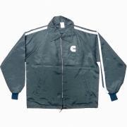 1970年代 ヴィンテージ U.S.A. ナイロンコーチジャケット 刺繍 グレード:A カラー:ネイビー サイズ:L