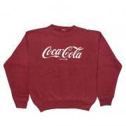 1970年代 U.S.A. Coca-Cola ヴィンテージ スウェットシャツ コカコーラ グレード:A~B えんじ色 サイズ:M