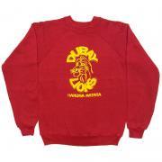 1980 〜 90年代 U.S.A. オールド プリント スウェットシャツ グレード: A えんじ色 サイズ:キッズ L