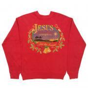 1980 〜 90年代 U.S.A. オールド プリント スウェットシャツ グレード:A カラー:赤 サイズ:キッズL