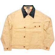 ヴィンテージ 1970年代  ガント GANT コーデュロイ襟 ジャケット 釦/ループ:革 色:ベージュ 寸法:M