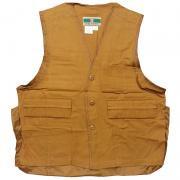 70'sー80's U.S.A. Game Winner Sportswear ヴィンテージ ブラウン ダック ハンティング ベスト グレード:A カラー:金茶 サイズ:M