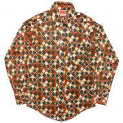 ヴィンテージ 1970年代製 Zayre Matt Andrews MENSHOP ディスコシャツ/ポリシャツ 幾何学模様 サイズ:S