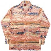 ビンテージ 1970年代製 Succon collection knits アートシャツ 絵画 ポリエステル DISCO SHIRT サイズ:M