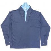 1960年代製 USA. ヴィンテージ Vネック タートル フェイクレイヤード ボタンダウンシャツ ネイビー / M