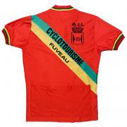 1980's フランス製 ヴィンテージ CYCLOTOURISME FUVEAU A.I.L サイクリング ジャージ フロッキープリント サイズ:ML